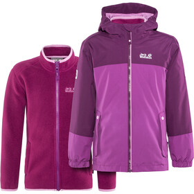 Jack Wolfskin G Iceland 3In1 Jacket Kids dark peony